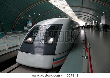 Speed Train In Shanghai, China