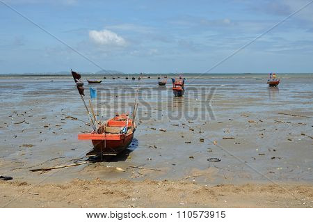 fishery boat on the beach