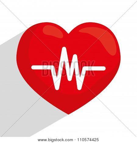 Heart cardio graphic