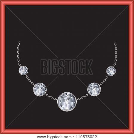 Brilliant Necklace Vector
