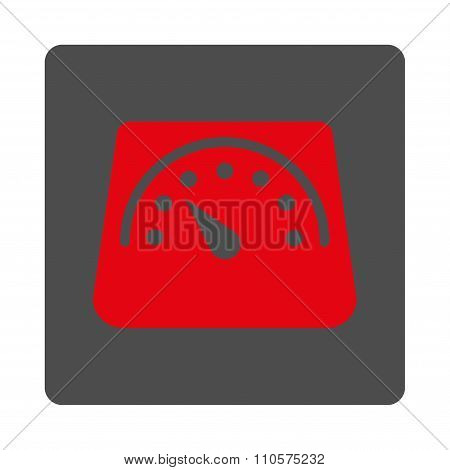Weight Meter Rounded Square Button