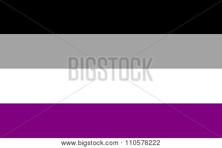 Asexual Pride Flag In Vector Format.