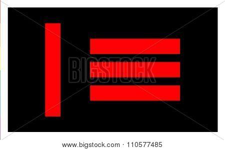 Master Slave Pride Flag In Vector Format.