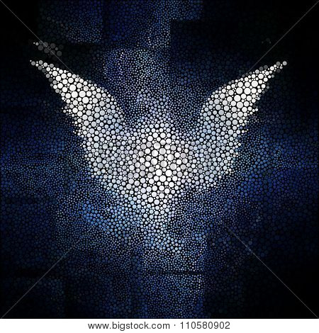 Winged being abstract