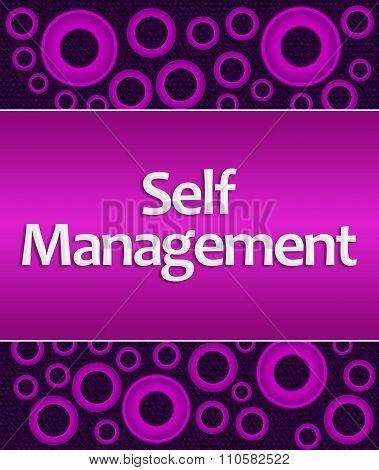 Self Management Purple Pink Rings