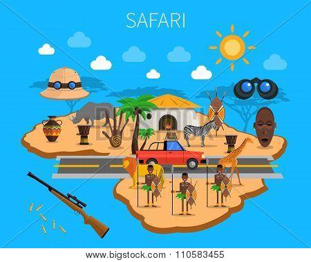 Safari Concept Illustration