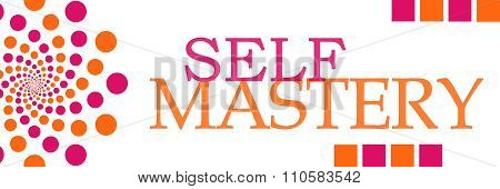 Self Mastery Pink Orange Dots Horizontal