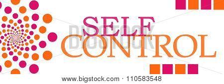 Self Control Pink Orange Dots Horizontal
