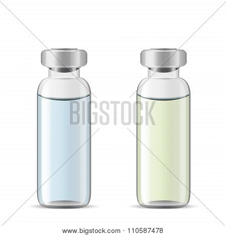 Medical Vials With Medicinal Solution