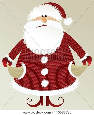 Holiday background with poor Santa Claus