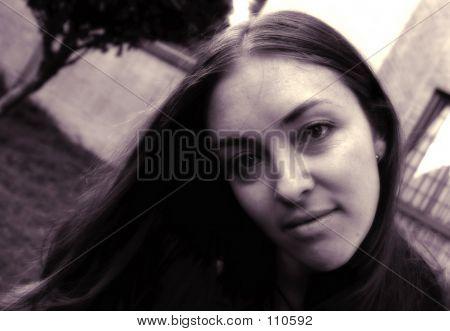 Beautiful Portrait In Sephia