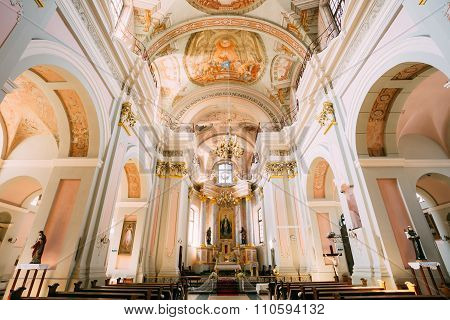 Detail of Interior Cathedral of Saint Virgin Mary in Minsk, Bela