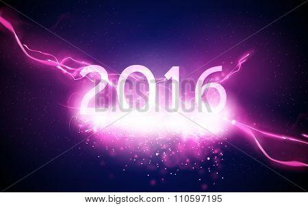 sparkling new year illustration - 2016