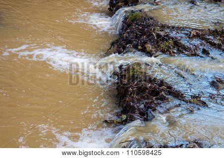 muddy mountain river