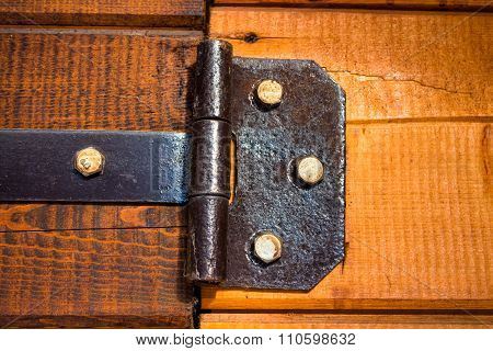 Vintage iron door hinges