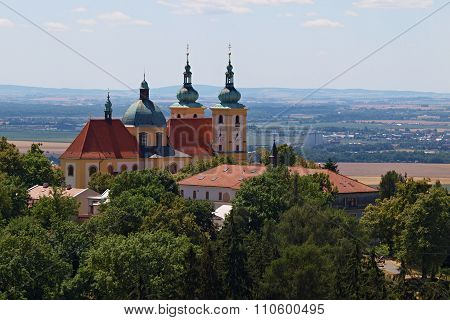 View Of The Church Of The Holy Hill In Olomouc