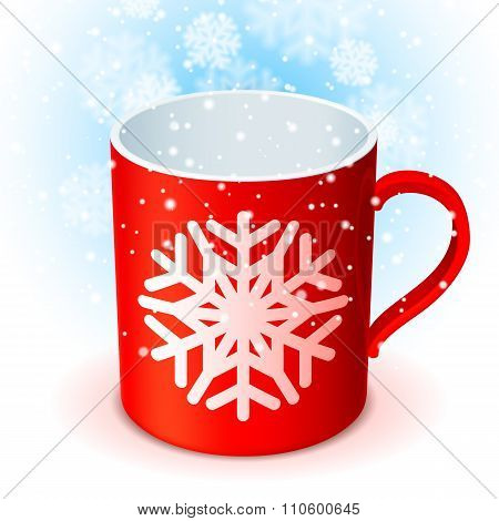 Red Cup and Snowflake