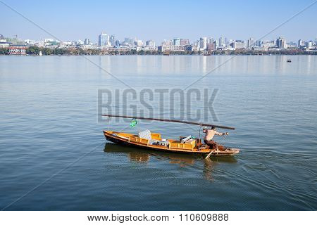 Traditional Chinese Wooden Recreation Boat
