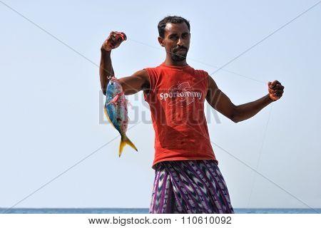 Fisherman, Socotra, Yemen