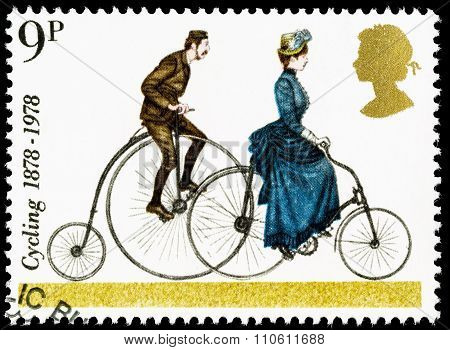Britain Penny Farthing Bike Postage Stamp