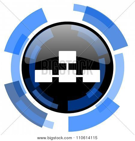 database black blue glossy web icon