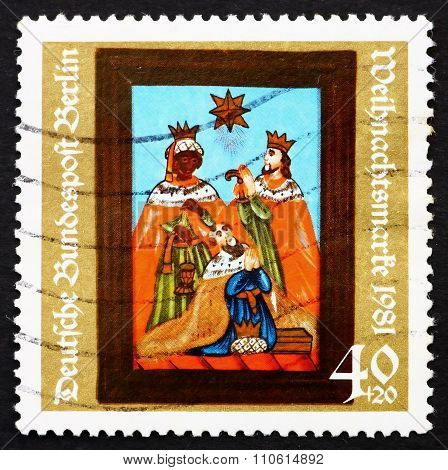 Postage Stamp Germany 1981 Adoration Of The Kings, 19Th Century