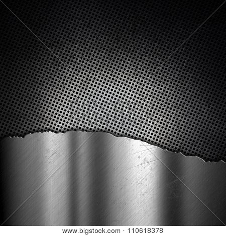 Anstract metallic background with a grunge effect