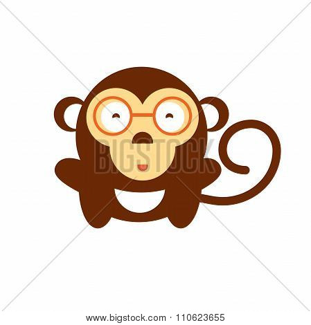 Vector Cartoon Monkey