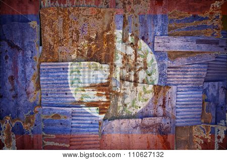 Corrugated Iron Belize Flag