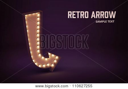 retro glowing lamp theme eps 10 vintage sign