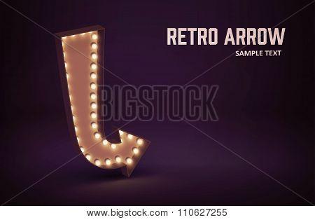 retro glowing lamp theme eps 10 vintage sign