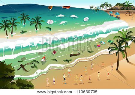 Scene Of Tsunami
