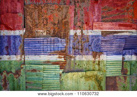 Corrugated Iron Gambia Flag