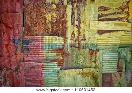 Corrugated Iron Guinea Bissau Flag