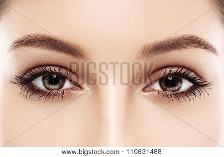 Eyes woman eyebrow eyes lashes