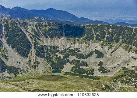 Panoramic view to Northern part of Pirin Mountain