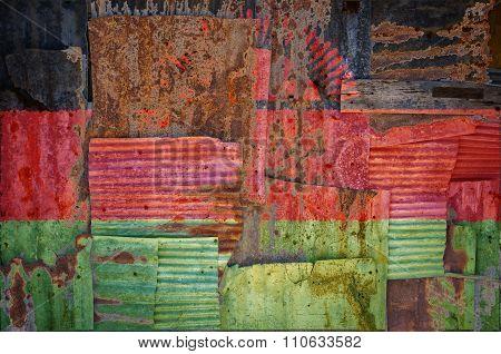 Corrugated Iron Malawi Flag