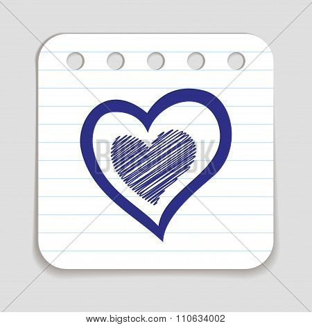 Doodle Heart Icon
