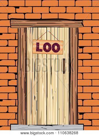 Outside Loo Door