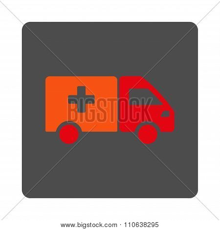 Drugs Delivery Flat Button