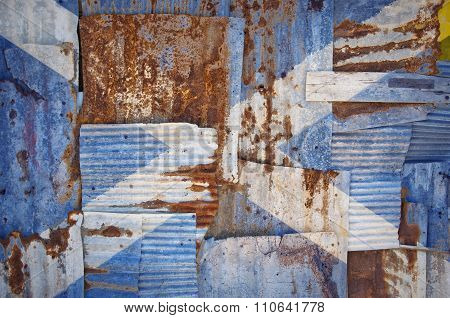 Corrugated Scotland Saltire Flag