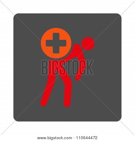 Medication Courier Flat Button