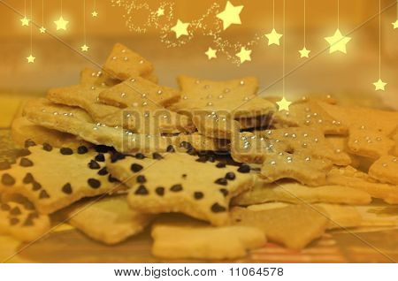 Christmas cookies with stars
