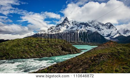 River and Mountains of Patagonia