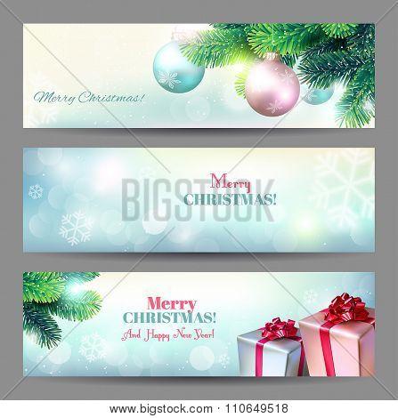 Christmas banners. Vector set.