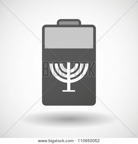 Isolated Battery Icon With A Chandelier