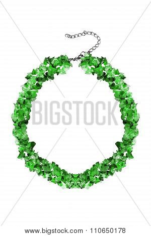 Emerald Necklace Isolated