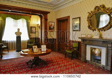 Interior of working room in Masandra Palace, Crimea