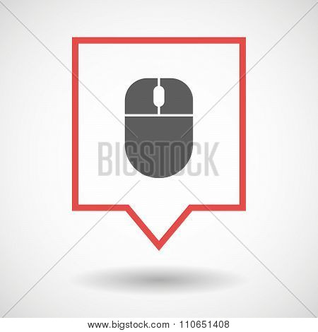Isolated Tooltip Line Art Icon With A Wireless Mouse