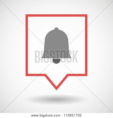 Isolated Tooltip Line Art Icon With A Bell